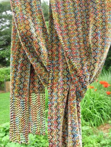 Shadow Weave #4 Variegated Colors Chenille Scarf