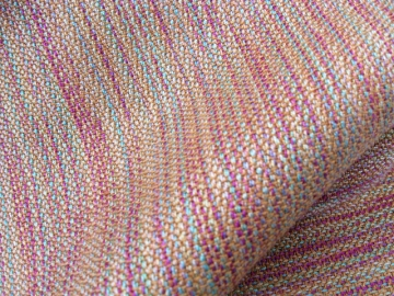 Crepe Weave Scarf, Tencel variegated colors warp & silk-merino weft, 2013