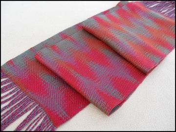Echo Weave Scarf, Pearl Cotton & Tencel, 2013