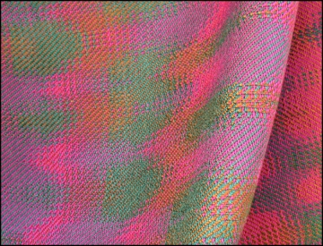 Echo Weave, Tencel, 2013 (detail of a scarf)