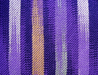 Ikat-Inspired Networked Twill, rayon & cotton, 2013 (detail)