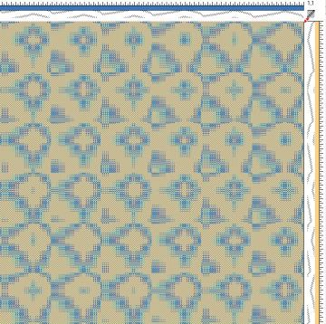 Draft for Networked Twill Woven Fabric