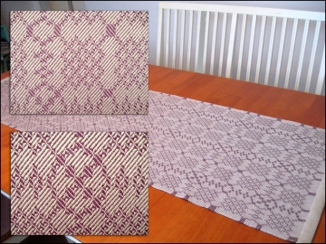 Turned Twill Woven Table Runner, 4 blocks, pearl cotton, 2013