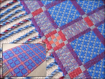 Double Weave Table Runner, Pearl Cotton, 2014