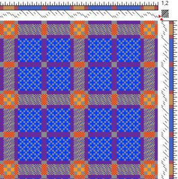 Draft for double weave table runner (double weave view, side 1)