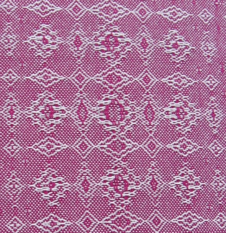Fancy Lace & Spot Weave Variation - warp & weft floats on plain weave, pearl cotton, 2014 (close-up of center)