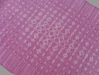 Fancy Lace & Spot Weave Variation - warp & weft floats on plain weave, pearl cotton, 2014