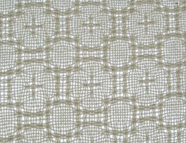 Lace & Spot Weave Variation #2, white warp, white weft