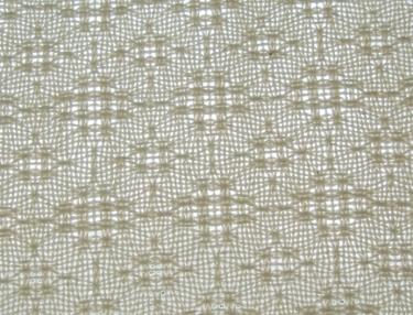 Lace & Spot Weave Variation #3, white warp, white weft