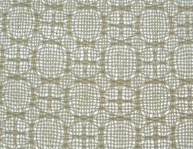 Lace & Spot Weave Variation #4 - white warp, white weft