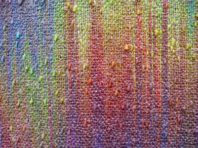 Painted Warp Plain Weave Scarf, cotton & rayon, 2015 (close-up)