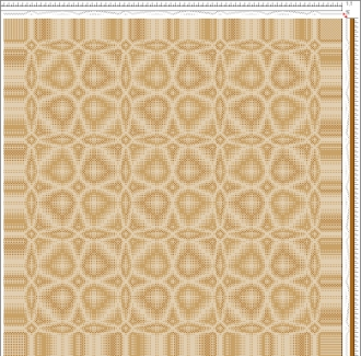 Draft for Networked Twill Table Runner (tie-up 1)