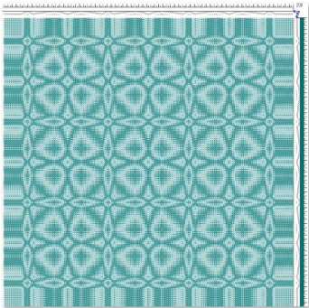 Draft for Networked Twill Table Runner (tie-up 2)
