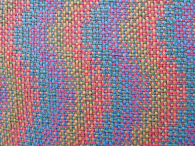Four-Color Double Weave (integrated) Sample #1, 8 shafts & 10 treadles, cotton, 2016