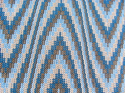 Four-Color Double Weave (integrated) Sample #2, 8 shafts & 16 treadles, cotton, 2016