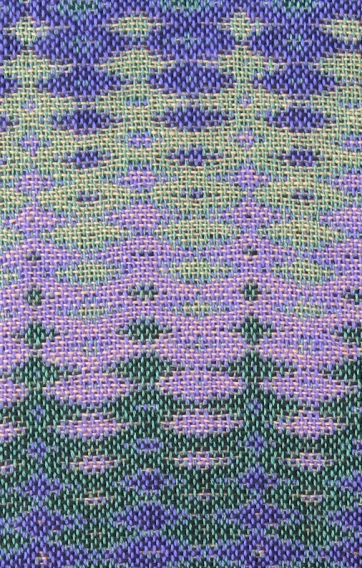 Four-Color Double Weave Sample #3, 12 shafts & 16 treadles, cotton, 2016