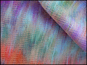 Painted Warp Networked Twill Scarf, Tencel & cotton, 2017