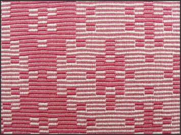 Warp Rep Coral Runner, pearl cotton, 2017 (close-up)