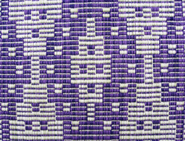 Warp Rep Purple Runner, cotton, 2017 (close-up)