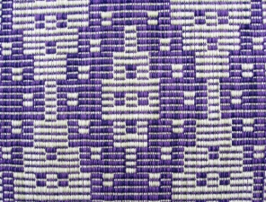 Warp Rep Purple Runner, cotton, 2017 (close-up)