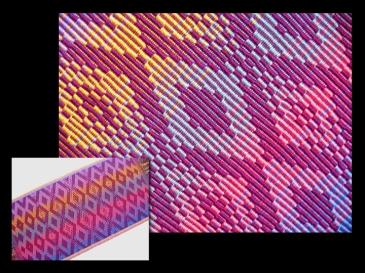 Warp Rep (Rep Weave) Runner, pearl cotton, 2007